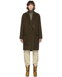 棕色Filipo羊毛大衣
