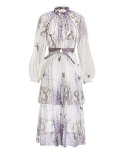 Luminous Tiered Midi Dress