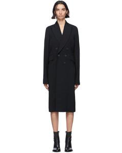 黑色Bethany双排扣大衣