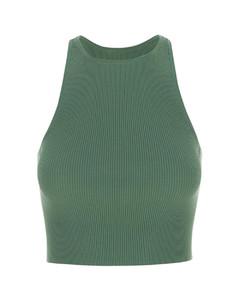 Julia elasticated-cuff cady trousers