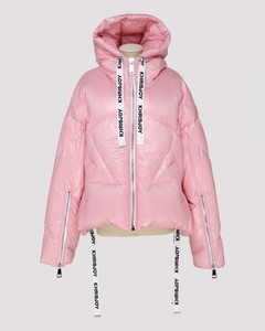 Pink nylon puffer jacket