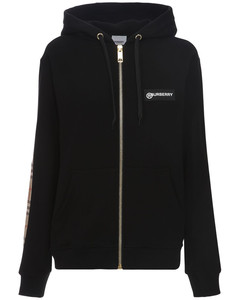 Aubree Zip-up Jersey Sweatshirt