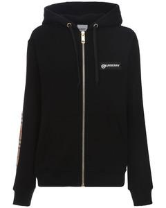 Aubree Zip-up Jersey Sweatshirt