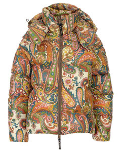 Paisley Print Hooded Down Jacket