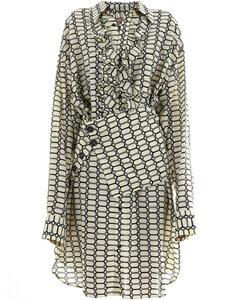 Silk Dress Geometric Print
