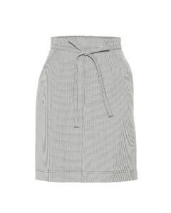 千鳥格羊毛混紡半身裙