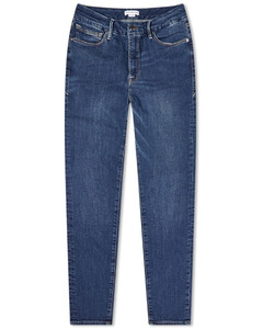 Preslee pinstriped high-rise wool trousers