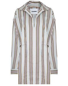 STRIPE SHIRT DRESS L/S MULTI