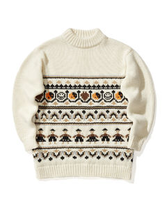 Graphic wool knit sweater