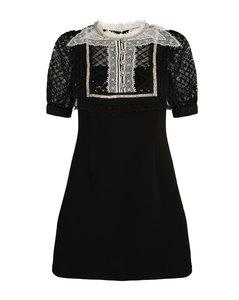 Lace-Trim Mini Dress