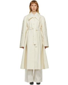 灰白色New亚麻风衣