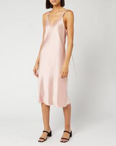 Women's Double Strap Satin Slip Dress - Sorbet