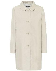 棉质混纺斜纹布大衣