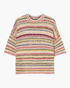 Woman Striped Knitted Sweater