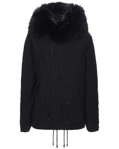 Mini Length Parka W/ Fur Trim
