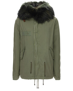 Mini Length Parka W/ Fur Trim