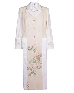 Multi Check Pleated Skirt in Beige