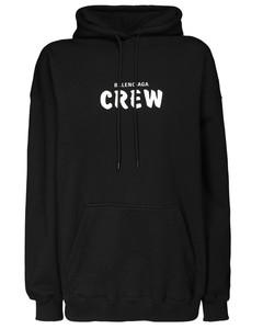 Over Crew Print Cotton Jersey Hoodie
