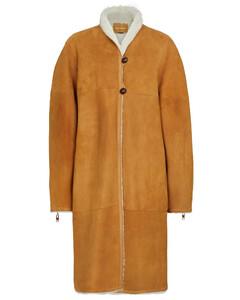 Abazoe羊毛皮正反两穿大衣