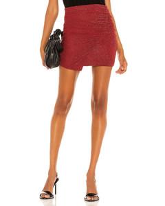 正面开衩A字形半身裙