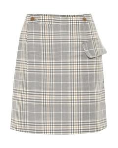 格紋棉質混紡半身裙