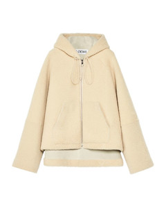 Shearling Hooded Jacket