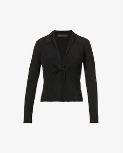 (HZ-20701) BOUCLE HOOD ZIP-UP IVORY
