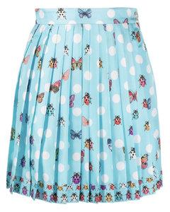 黑色刺绣徽标连衣裙