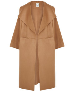 Annecy camel wool and cashmere-blend coat