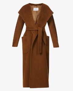 Gentile wrap-front camel-wool coat