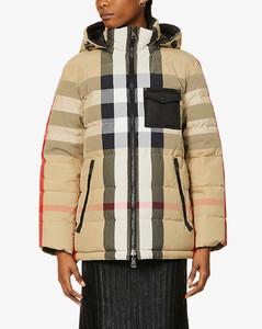 Hemsworth check-print shell-down jacket