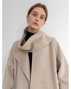 Muffler Handmade Coat Light-Beige