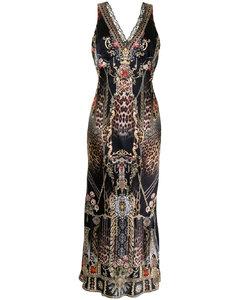 Odeon olive stretch-silk cape dress