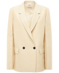 Wool & Silk Double Breasted Blazer