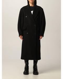 long coat in virgin wool blend