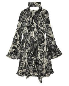 ChloéWoman Printed Cotton And Silk-blend Georgette Mini Dress