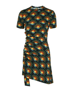 Char pleated vegan leather trousers