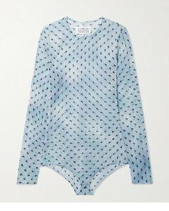Printed Stretch-silk Chiffon Bodysuit