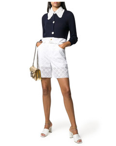 Embellished-collar cardigan