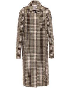 Woman Checked Wool-jacquard Coat