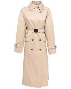 Fleres Coated Double Cotton Trench Coat