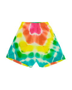 Burst tie-dye cashmere shorts