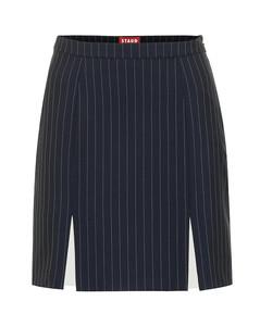 Liv条纹绉纱半身裙