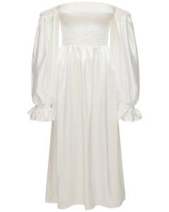 '''atlanta'' Off-the-shoulder Silk Dress'