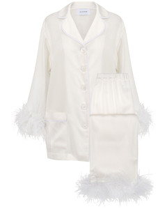 Party Pajama Set W/ Double Feathers