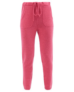 Drawstring cashmere sweatpants