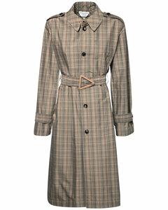 系腰带防水棉质大衣