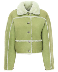 Khalo Cropped Shearling Jacket