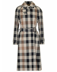 The Cube Checked Trench Coat