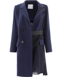 Double Breasted Pleated Coat